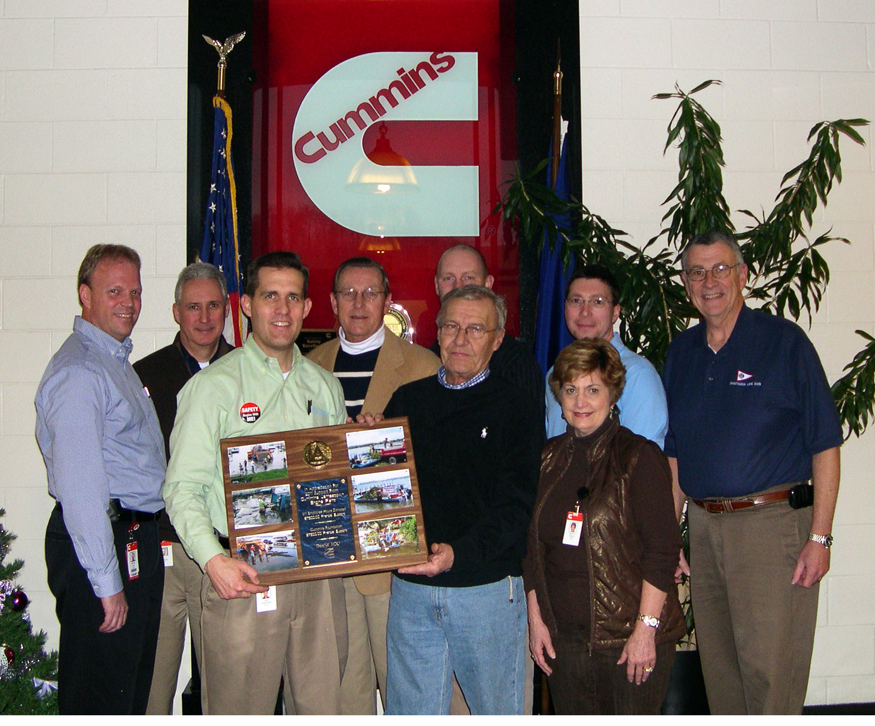 Cummins Inc, Jamestown Engine Plant Employees Recognized for Lake Clean-Up