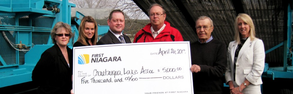 First Niagara Bank Foundation Makes $5,000 Donation to Chautauqua Lake Association