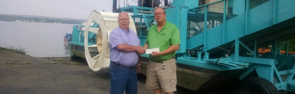 Chautauqua Lake Association Receives $7,000  from the Chautauqua Lake Fishing Association