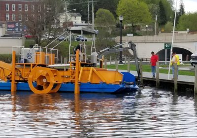 CLA helps prepare boat docking slip in Jamestown