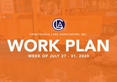 Work Plan: Week of July 27 – 31
