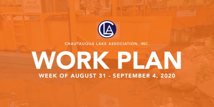 Work Plan: August 31 – September 4