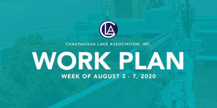 Work Plan: Week of August 3 – 7, 2020