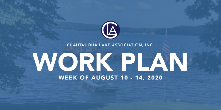 Work Plan: Week of August 10 – 14, 2020