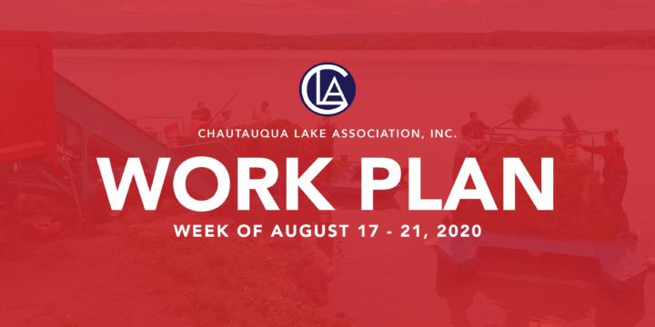 WORK PLAN: WEEK OF AUGUST 17 – 21, 2020