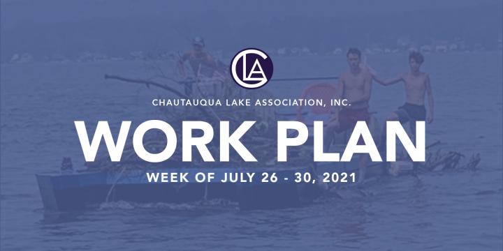 Work Plan: July 26 – 30