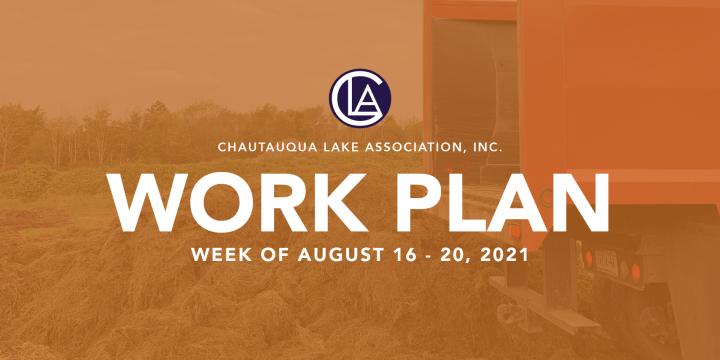 Work Plan: August 16 – 20
